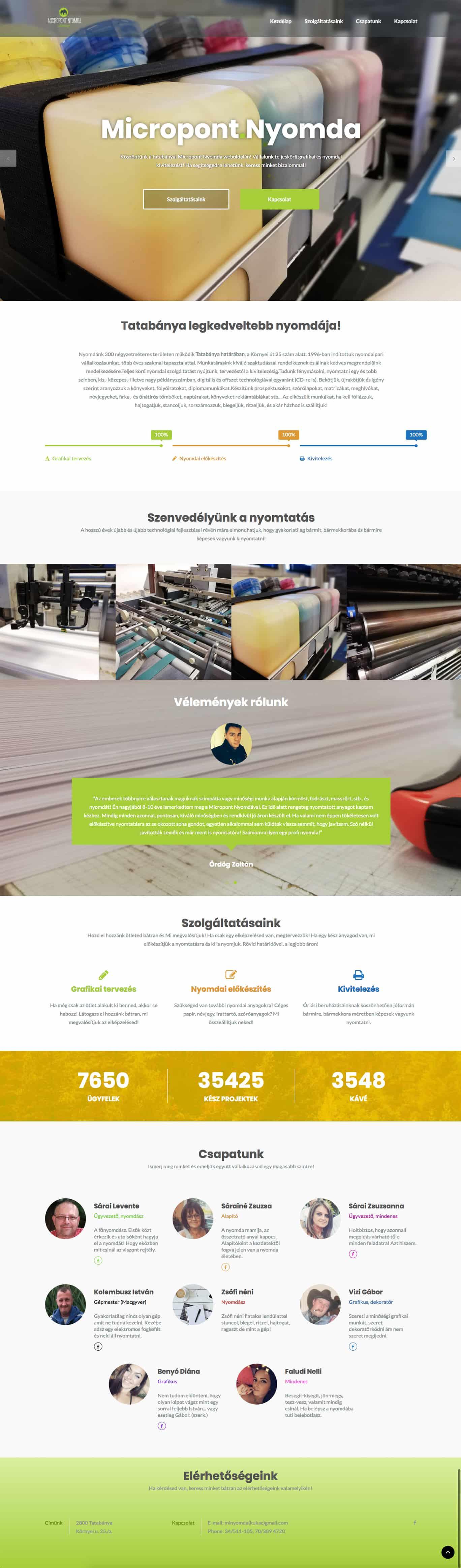 micropont - weboldal készítés