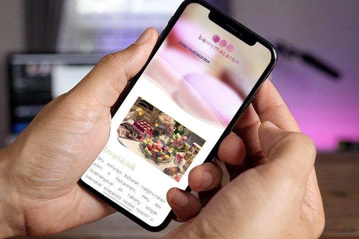 be my macaron - weboldal készítés